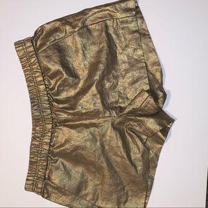 J. Crew Gold Shorts